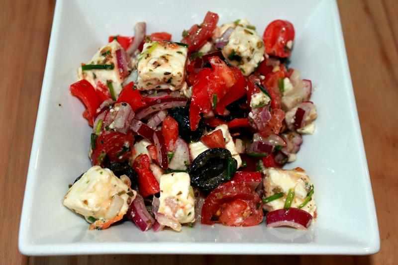 Pyszna Sałatka Grecka Zdrowa Dieta Kuchnia Grecka