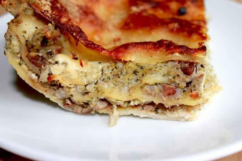 wegetariańska lazanialazagna, dietetyczna lazania, lazania z brokuła i kalafiora, sycąca zdrowa lazania, zdrowy styl joanny