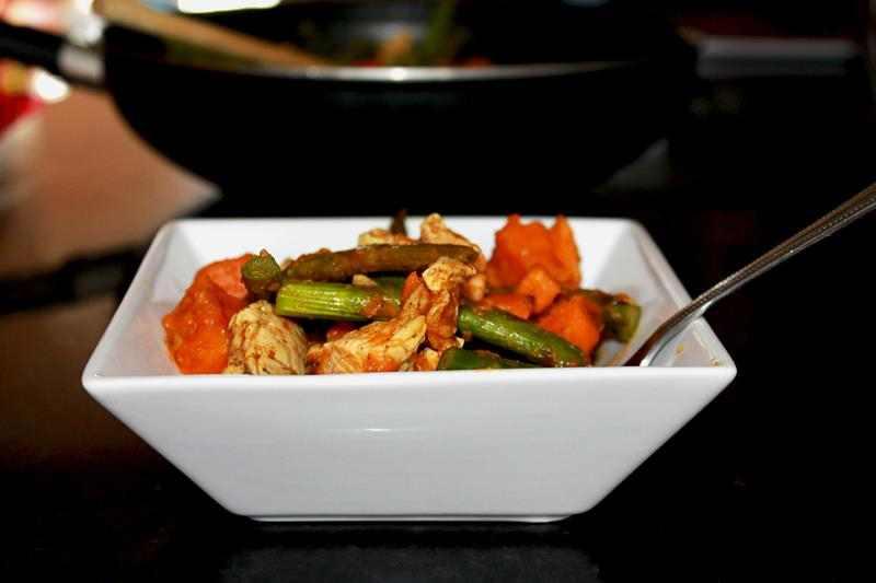 Kurczak Ze Szparagami I Batatami Zdrowy Smaczny Obiad