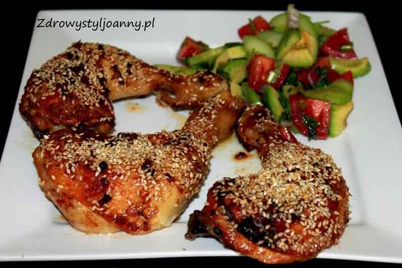 kurczak w sezamie, przepis na udka w sezamie, udka, smaczny obiad, fit obiad , zdrowy styl joanny