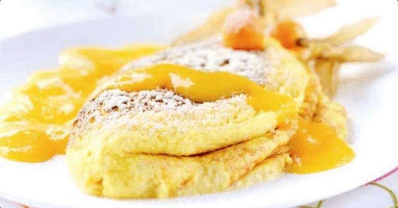 ryżowy omelt, omlet z owocami, śniadanie, przepis na omlet, smaczny omlet, zdrowy omlet, zdrowy styl joanny,