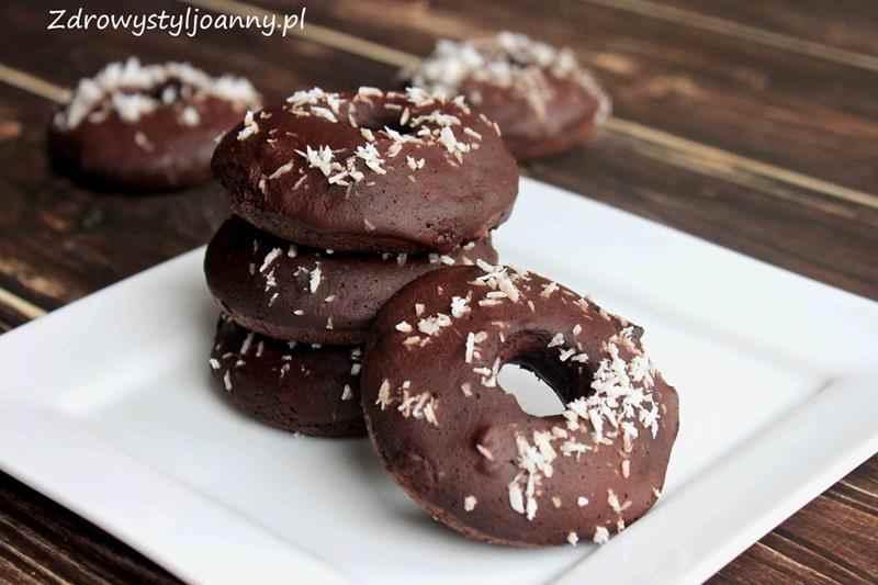 Zdrowe czekoladowe pączki bez tłuszczu. pieczone pączkoi, fit pączki, dietetyczne pączki, wiórki kokosowe, zdrowe pączki, obważanki, zdrowe obważanki, wim co jem, zdrowy styl joanny, smaczne pączki, fit pączki, bez tłuszczu, dieta, redukcja